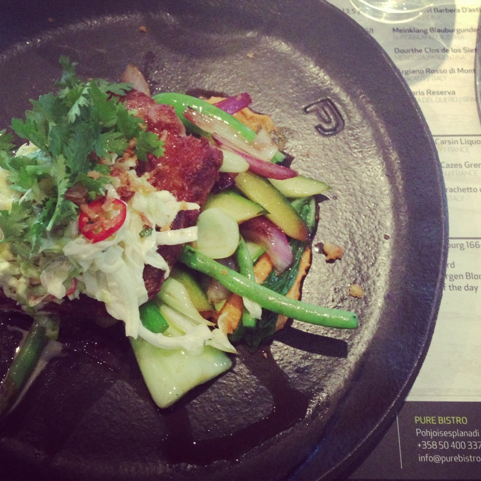 Grilled pork neck satay, thai coleslaw