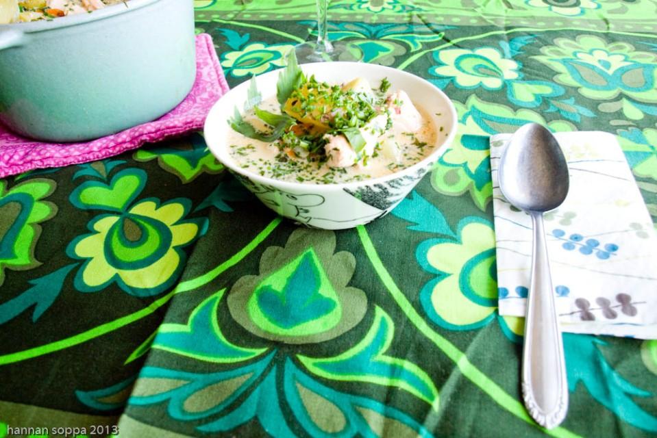 lohi-lipstikkakeitto / Hannan soppa