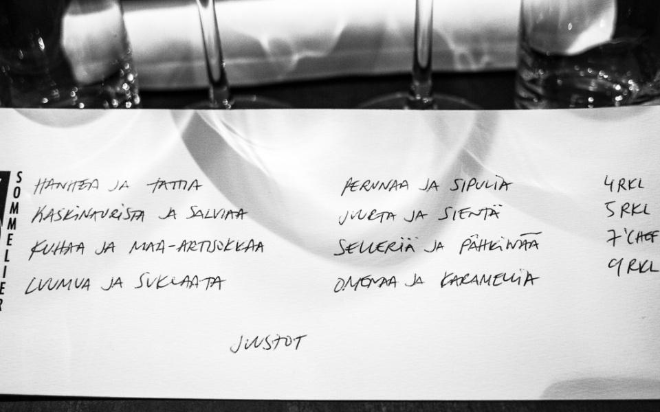menu Chef & Sommelier / Hannan soppa